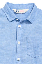 Linen-blend shirt - Blue marl - Kids | H&M CN 4
